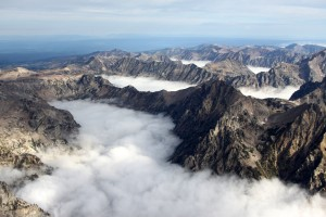 Just awesome low-level clouds in the canyons below