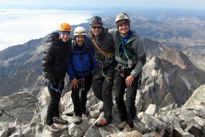 The four of us on the summit of the Grand Teton (13,770') on September 7, 2013