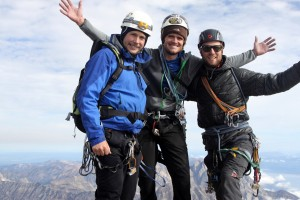 Billy, me, & Mikey on the summit of the Grand Teton (13,770')