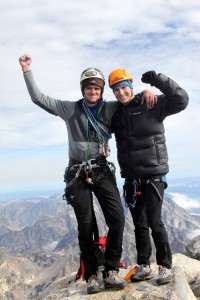Reid & myself on the summit of the Grand Teton (13,770')