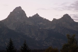 Left to right: The Grand, Mt. Owen, Teewinot