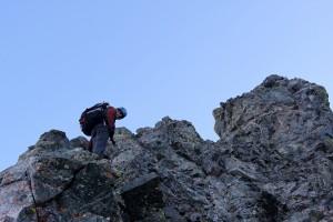 J on the upper west ridge direct