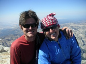Kristine & I on the summit of the Grand Teton together on September 3, 2006 before we started dating