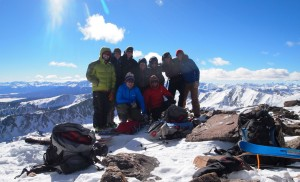 Our awesome crew on the summit of Homestake Peak (13,209')