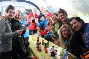 A big Christmas Day celebration in the dining tent with our whole ANI crew back at base camp