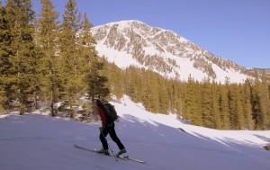 Kristine skinning on the Williams Lake trail