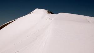 Wheeler Peak summit ridge as seen from the saddle