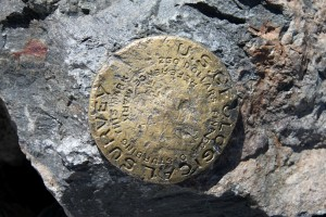 Wheeler Peak USGS summit marker