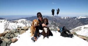 Me, Rainier, & Kona on the summit of Wheeler Peak. Very special for Kristine and myself to be able to bring these two on this little roadtrip