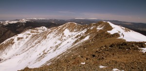 View to the north to Mt. Walter and Point 13,045' from Wheeler's summit