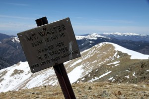 Mt. Walter's summit sign