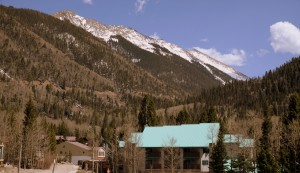 Wheeler Peak at far right in the distance as seen from Taos Ski Valley (on the drive out Saturday afternoon)