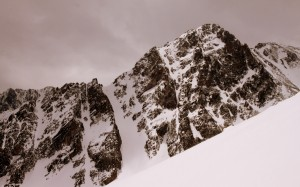 The mighty East Thorn was always standing guard to the south (by the way, a great looking couloir there)