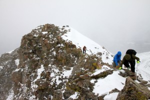 Scrambling to Rain's southern summit