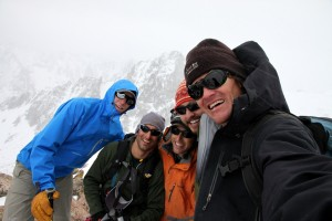 The five of us up close on Rain's southern summit