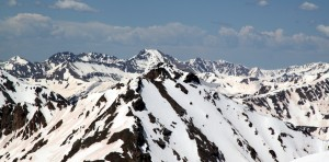 Close-up of Grizzly's North Couloir from Oklahoma's summit, which we hope to climb/ski in 2 weeks or so