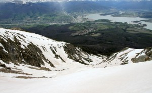 Looking down into the Salt Lick Cirque with Silverthorne below