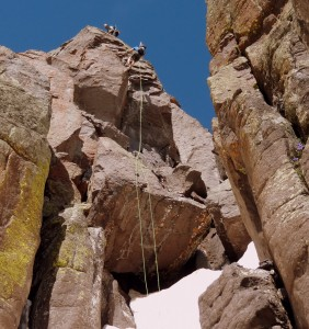Jed rappelling. Photo by Kelly