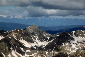 Fools Peak and its north ridge, which Kristine and I climbed in the fall of 2010, with Capitol Peak in distance at left