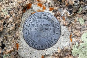 Jackson's USGS summit marker