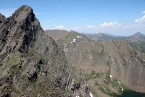 Profile of the Ellingwood Arete up the Needle