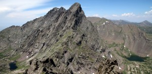 The Needle is such a stunning peak, especially from this angle on top of Broken Hand Peak