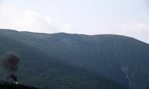 The cog railway huffin' & puffin's its way up Mt. Washington one ridge over