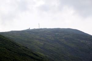 The summit of Mt. Washington 1,500' above