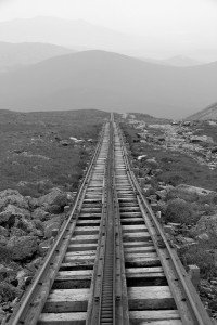 The Cog railway track
