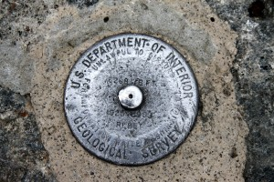 Mt. Washington USGS summit marker