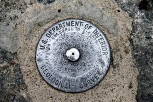 Mt. Washington USGS summit marker