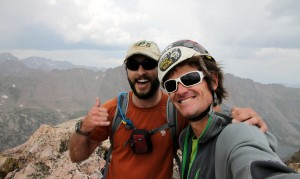 Rick & I on the summit of Peak S (12,857')