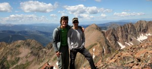 A beauty of a day with Grand Traverse Peak and The Grand Traverse behind us