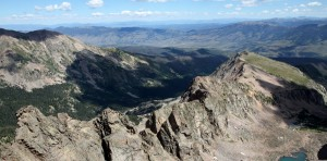 Asgard Ridge from the summit of Mt. Valhalla (13,180')