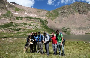 Our crew at Deluge Lake (11,700')