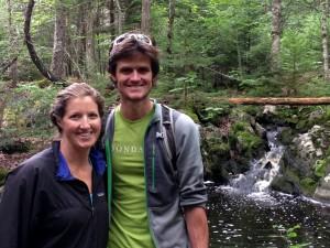 Kristine & I on the wooded trail