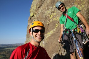 J & Derek at the belay atop the Durrance Crack