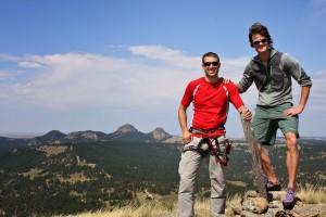 Derek & I on the summit of Devil's Tower (5,112')