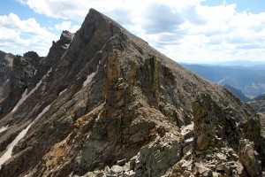 The remaining portion of Rockinghorse Ridge up to West Partner Peak as seen from the top of this tower