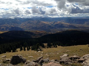 View south down to the Vail Valley from Red & White's summit the same October 11 day. I had my phone on me and could be down fairly fast as I was on call for a birth :)