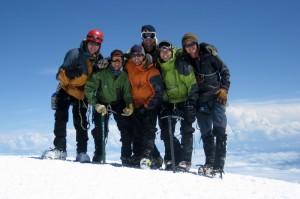 Group summit shot (left to right: Matt, Steve, J, Baba, Nico, and me)