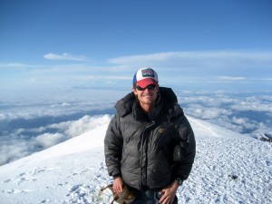 Me back on top of Rainier again that day at around 8pm