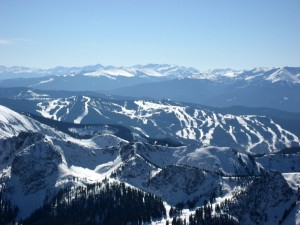 Vail Mountain from Peak C's summit