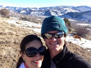 Mom and I on a little hike