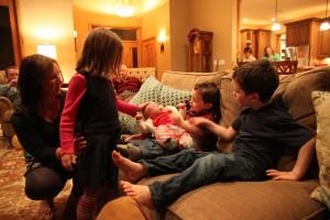 Sawyer & her posse of kiddos