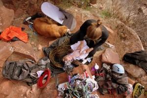 Diaper change at the crag: no problem