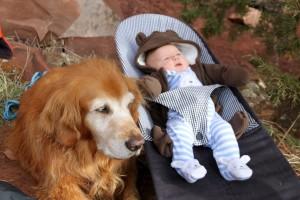 Rainier babysitting...