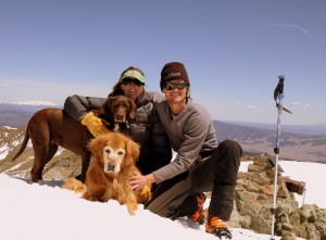 Summit of Wheeler Peak, New Mexico in May 2014