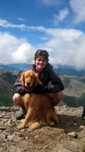 Me & Rainie on top of San Luis Pk, my final Colorado14er, in August 2008