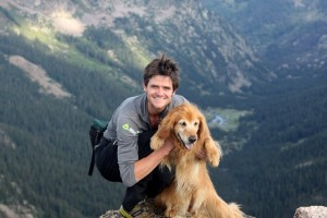 Summit of the Spider, Gore Range, with Rainie in July 2012